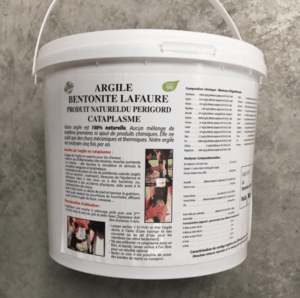 Cataplasme argile bentonite